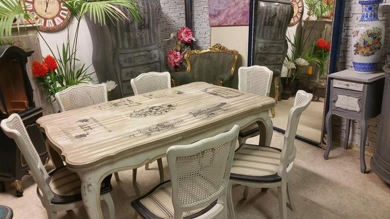 table et six chaises louis xv patin es centerblog. Black Bedroom Furniture Sets. Home Design Ideas