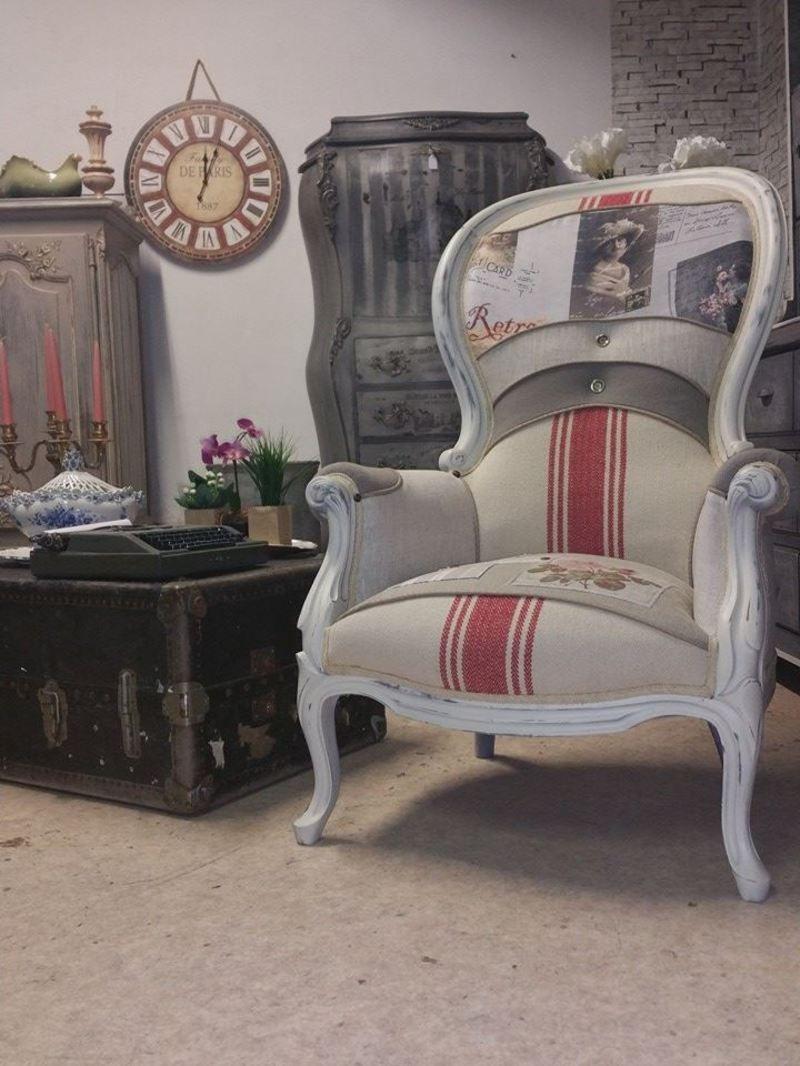 fauteuil louis philippe romantique style. Black Bedroom Furniture Sets. Home Design Ideas